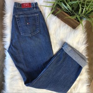 Tommy Hilfiger High Rise Straight Leg Mom Jeans